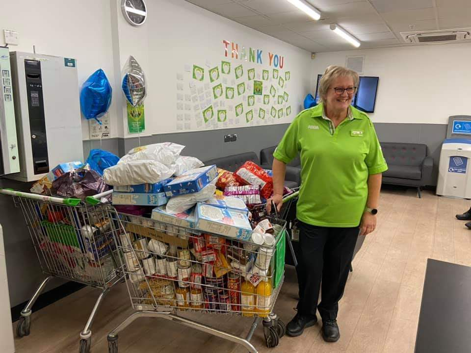 Thank you for donating to St. Mary's Church Foodbank | Asda Greenhithe