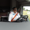 Associate Kyle rides with Allyson, one of Walmart's 'Elite Fleet' truck drivers