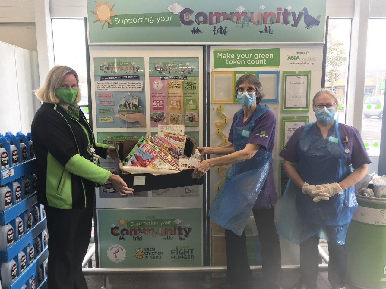 Activities donation for the residents of Fernbrook Lodge | Asda Gillingham