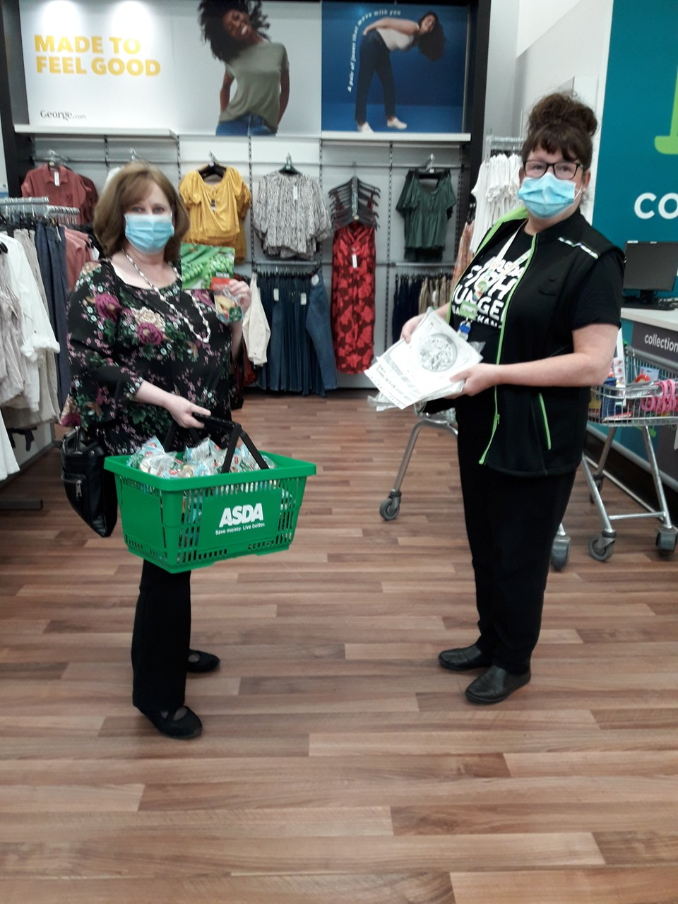 Charleston community gardening project receiving seeds fruit and information sheets for their new local project. | Asda Dundee West
