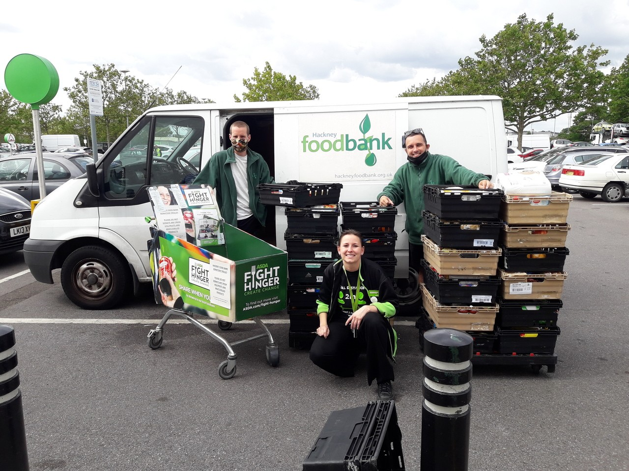 Hackney Food bank donation | Asda Leyton Mills