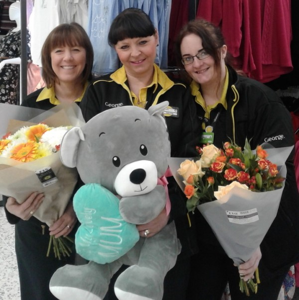 Angela Wilson, Linda Shears and Ann Marie Luke celebrate Mother's Day at Asda Gosforth