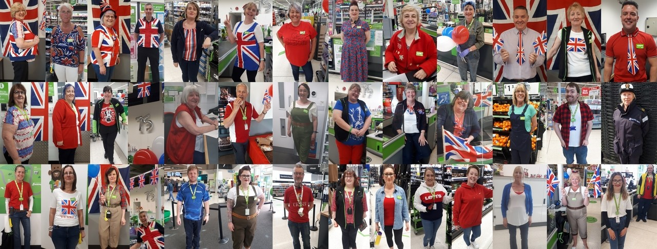 Dressed up for VE Day | Asda Boston