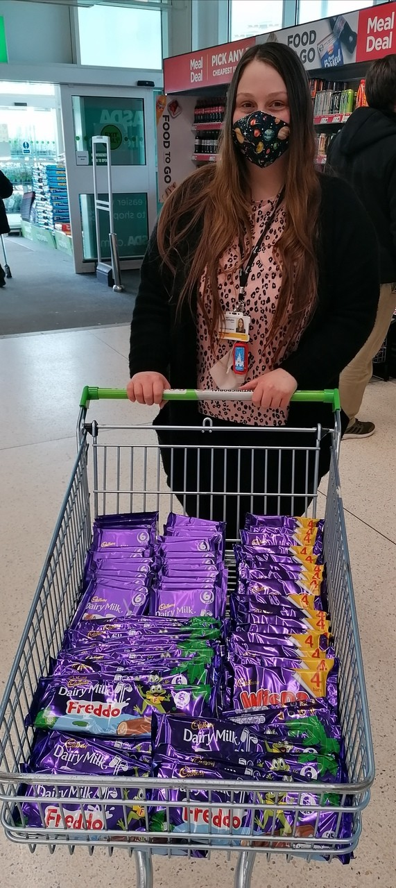 Chocolate Donations for School Project | Asda Motherwell