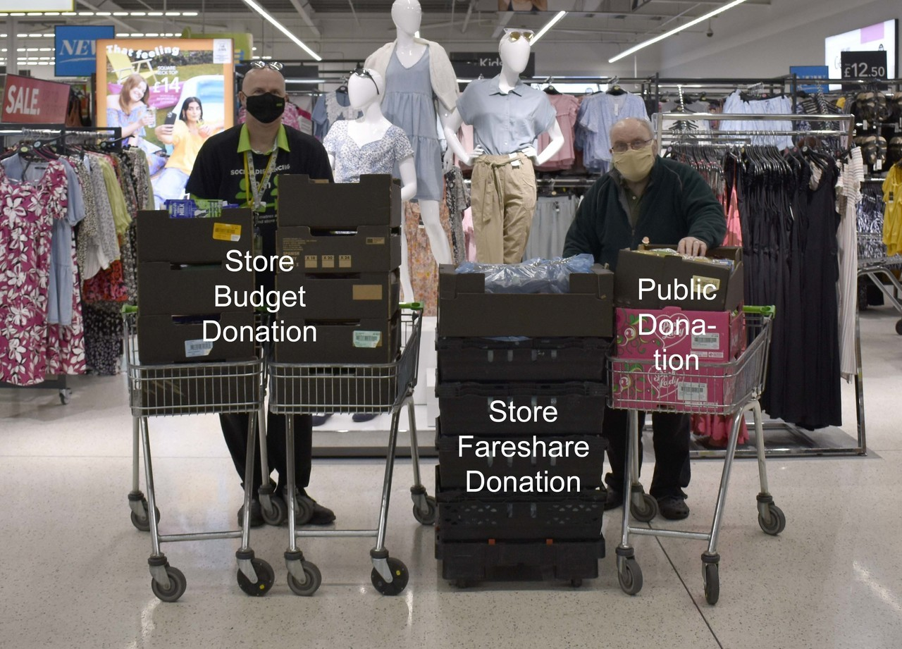 How we've supported Northern Devon Foodbank during the pandemic   Asda Bideford