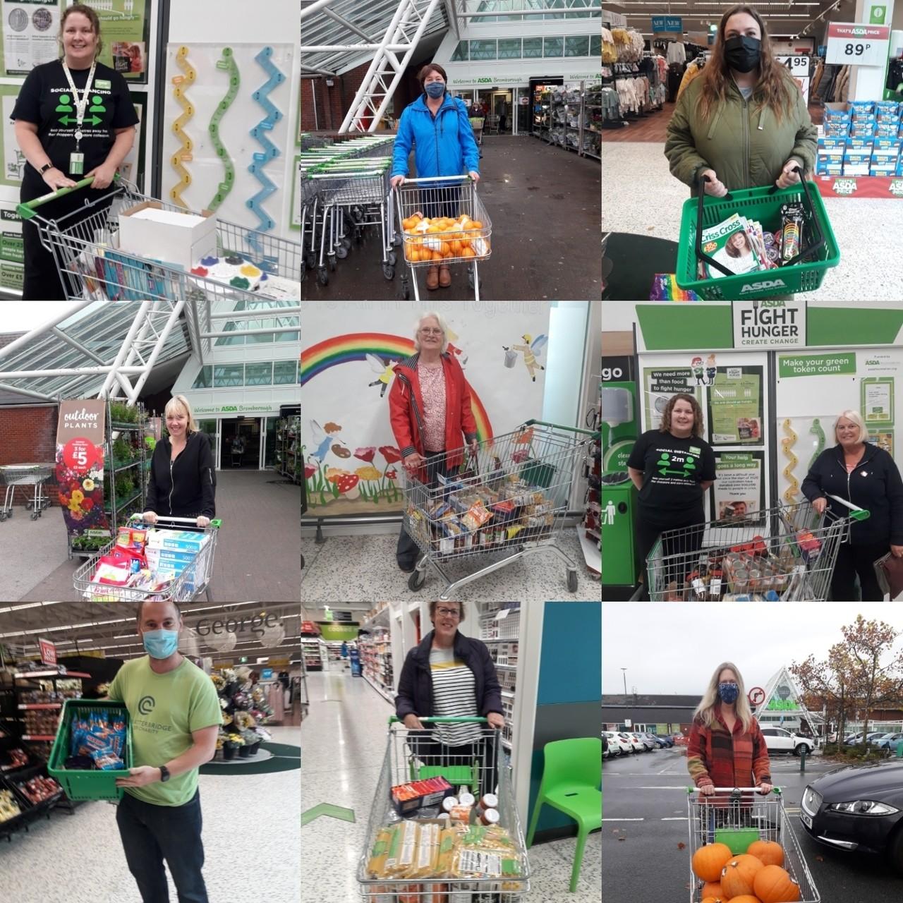 £3,550 worth of goods donated | Asda Bromborough