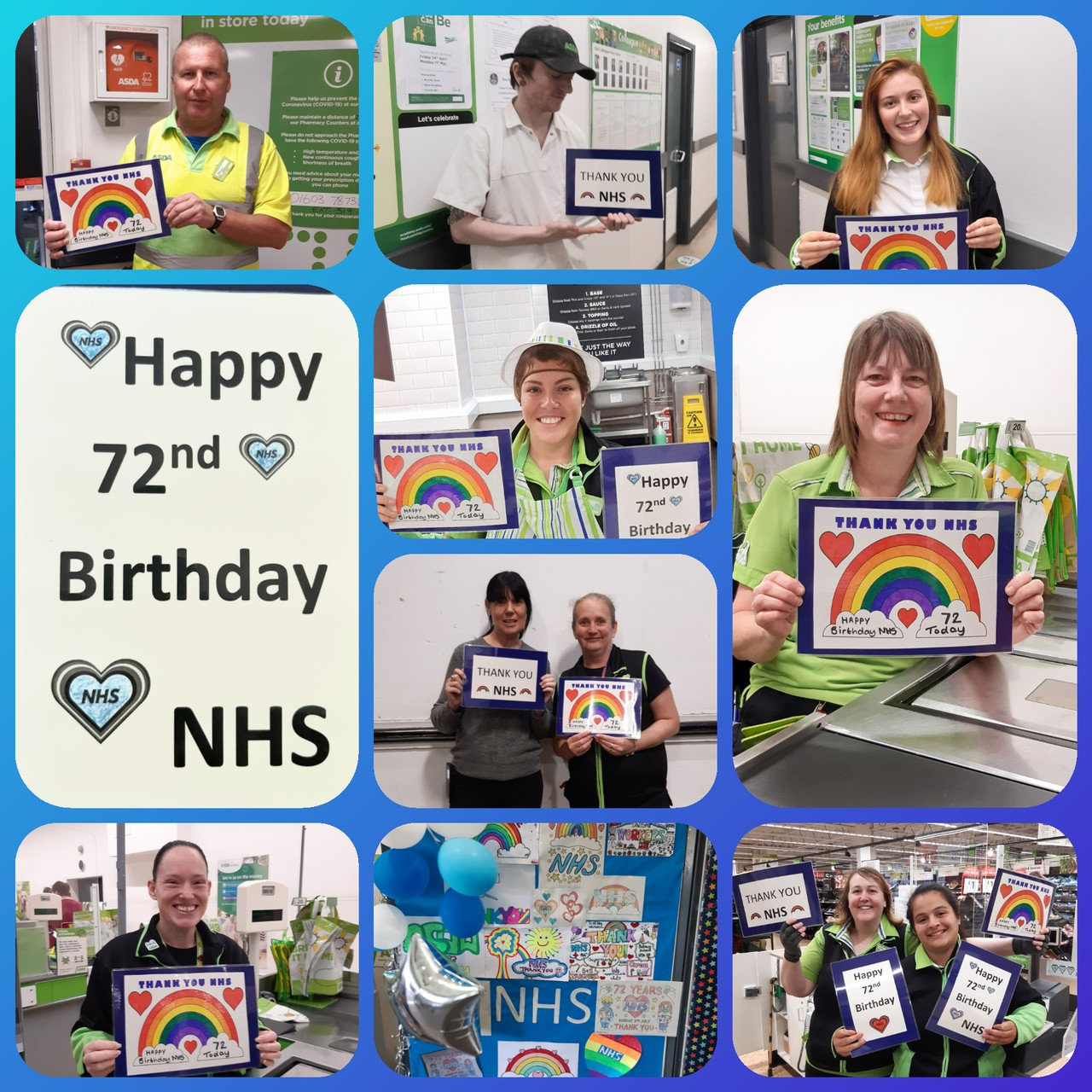 Happy 72nd Birthday NHS from everyone at Asda Norwich 🥰🌈🥰 | Asda Norwich