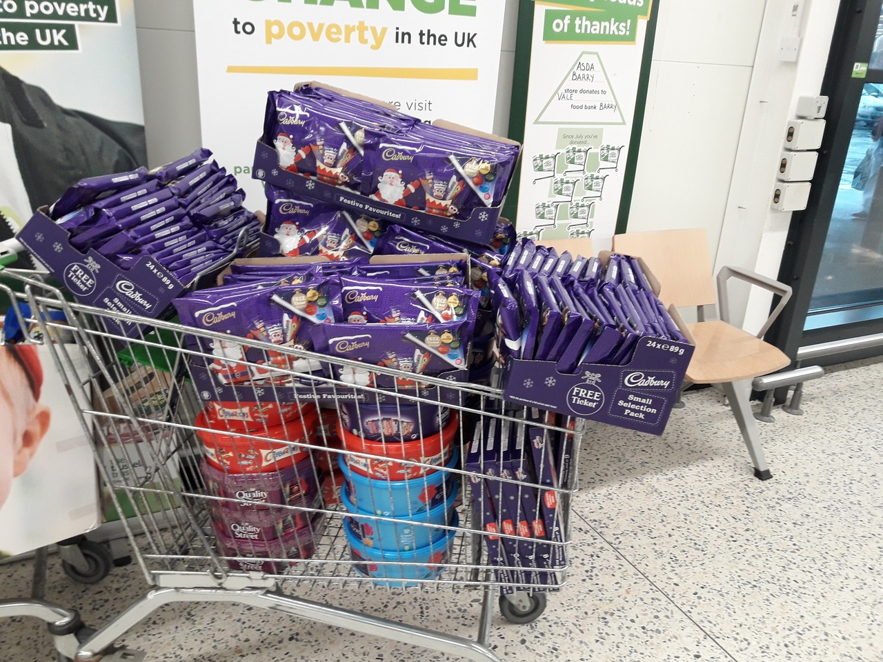 Donations for the children through the foodbank.  | Asda Barry
