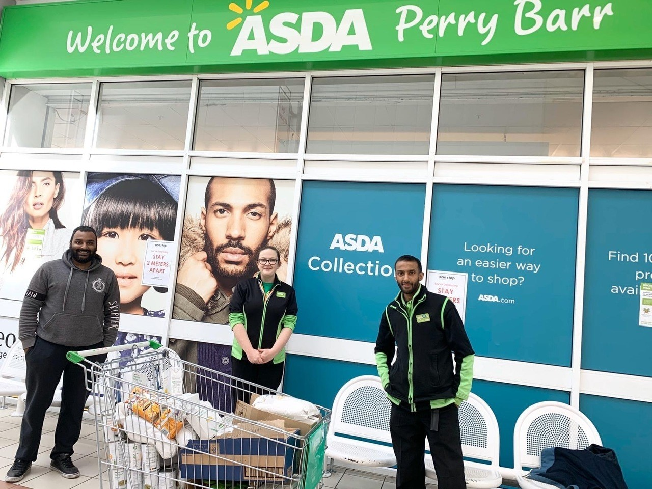 Helping to fill food parcels | Asda Perry Barr