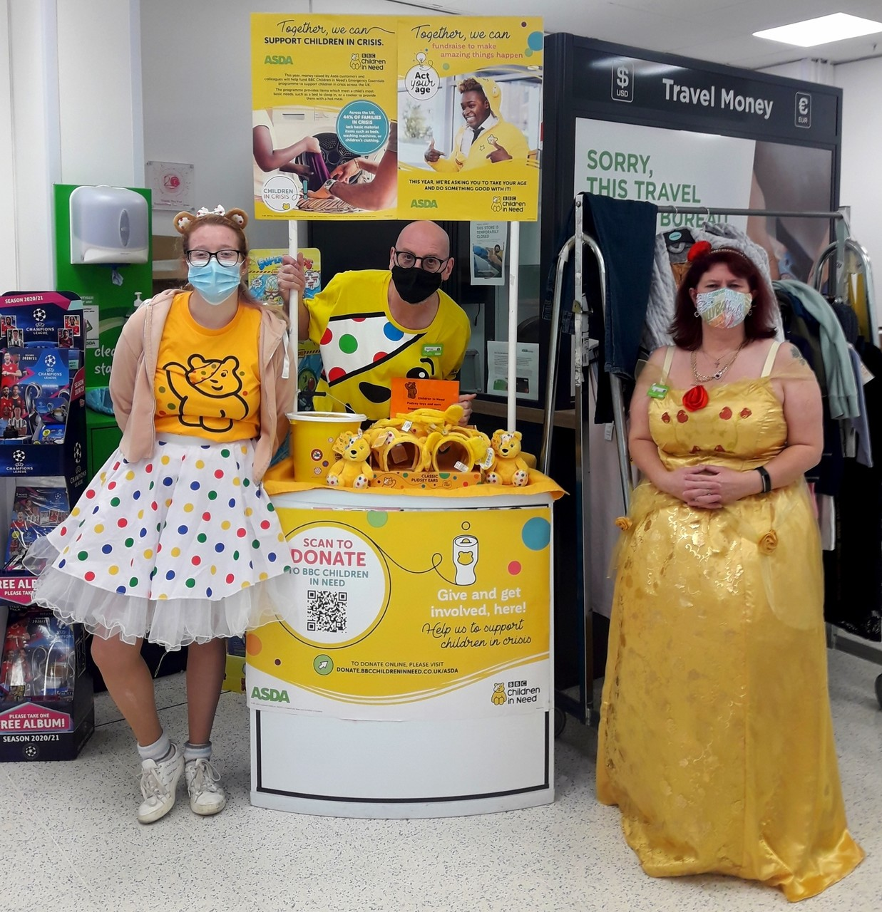 Children in Need fun | Asda Brighton Marina