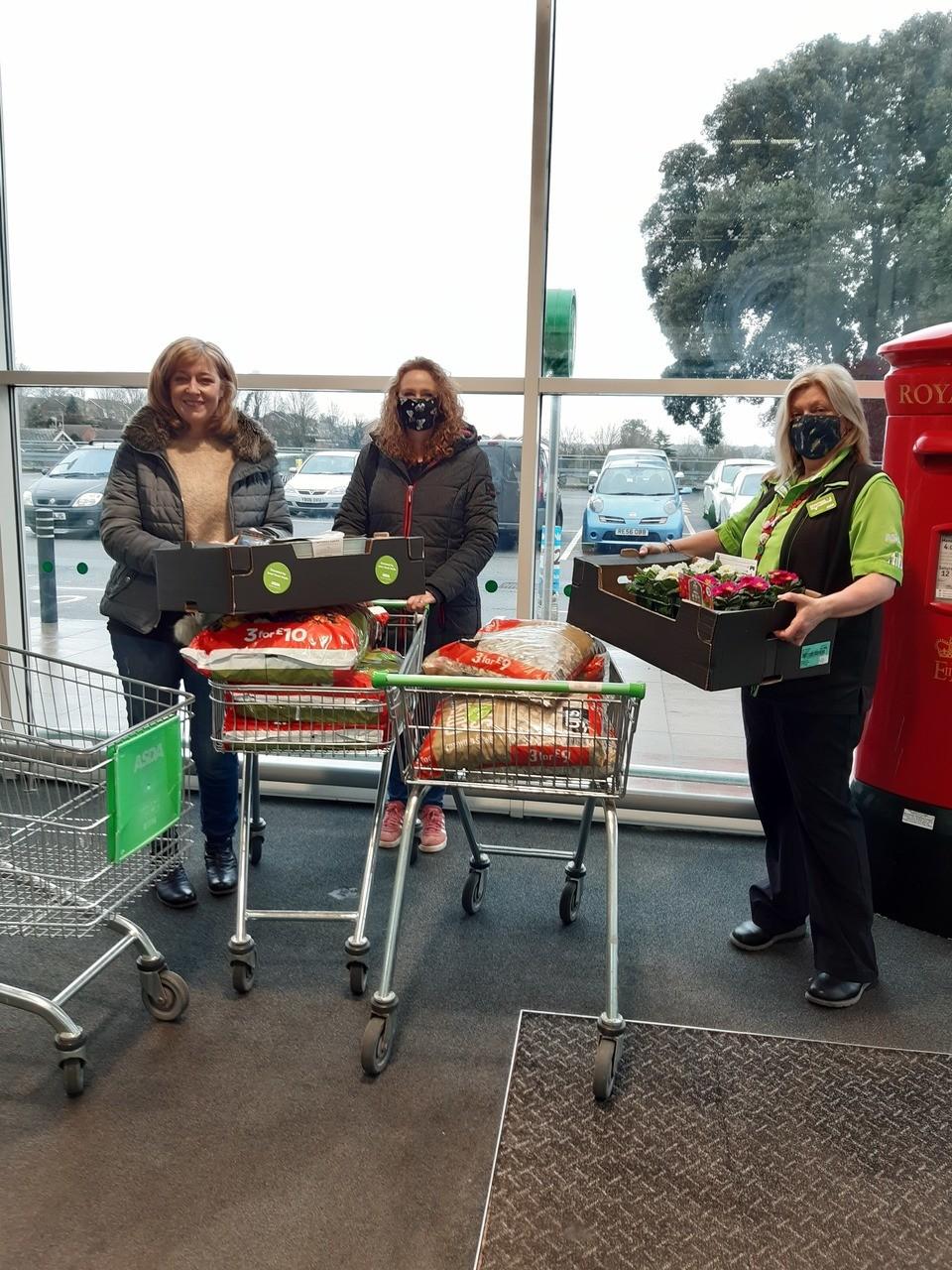Lighthouse Women's Aid donation | Asda Ipswich Stoke Park