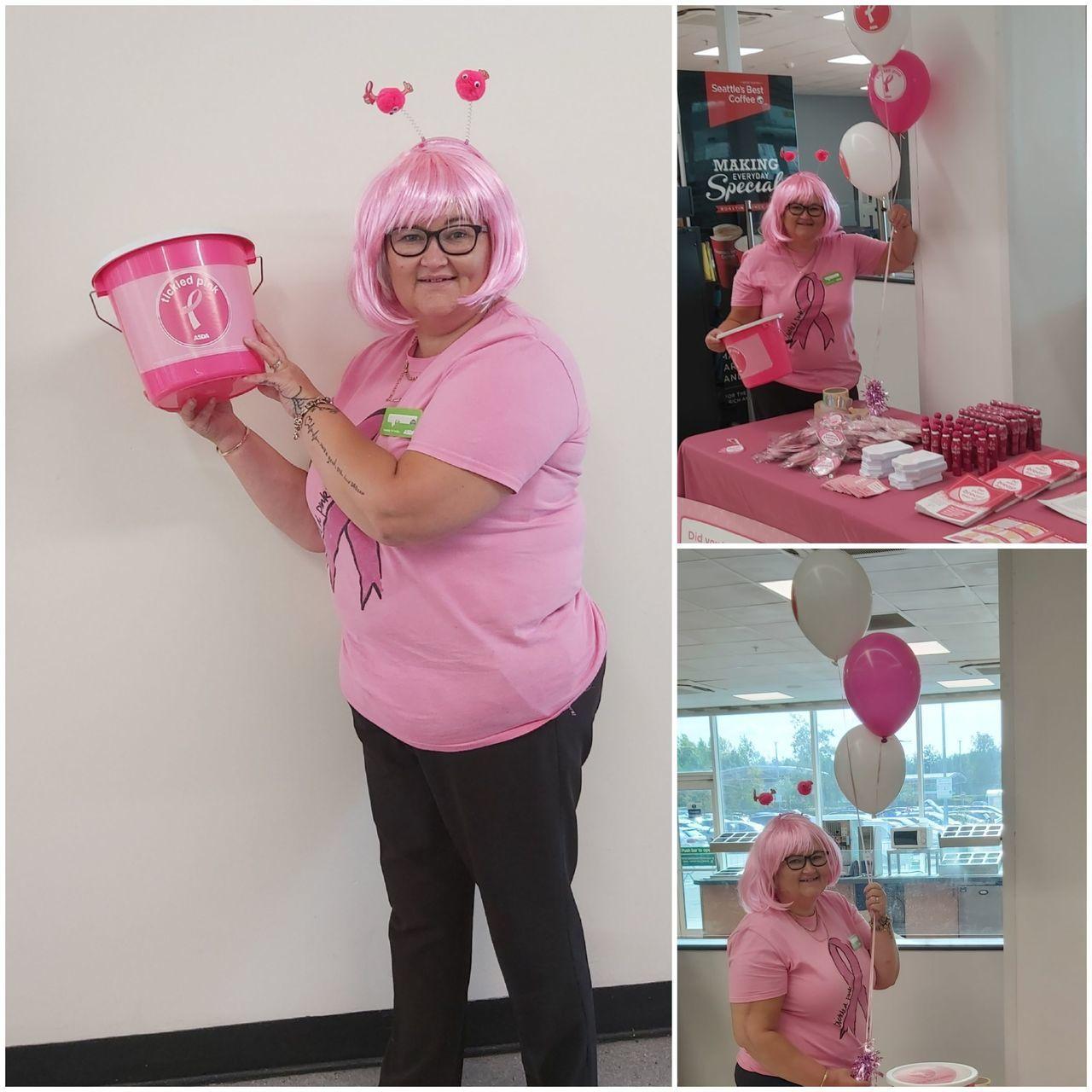 Tickled Pink fundraising | Asda Donnington Wood