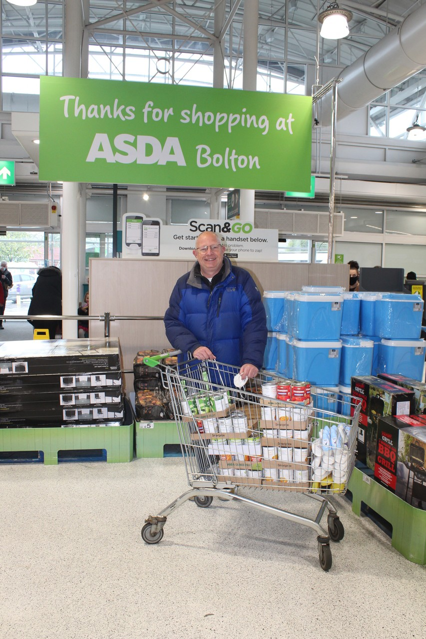 'Fight Hunger Create Change' Bolton store donation to the 'Urban Outreach Charity'.   Asda Bolton