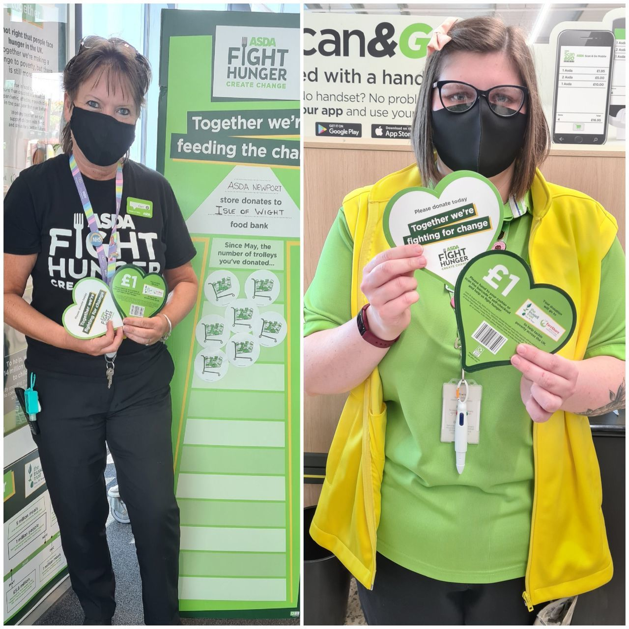 Fight Hunger support   Asda Newport Isle of Wight