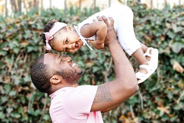 Tray Ruffin with his daughter Nova Ruffin