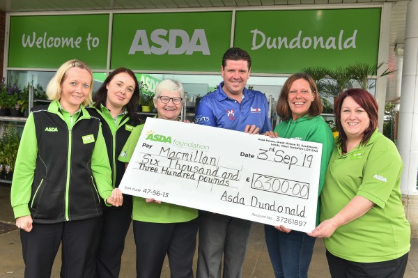£6,300 donation to Macmillan Cancer Support from Asda Dundonald