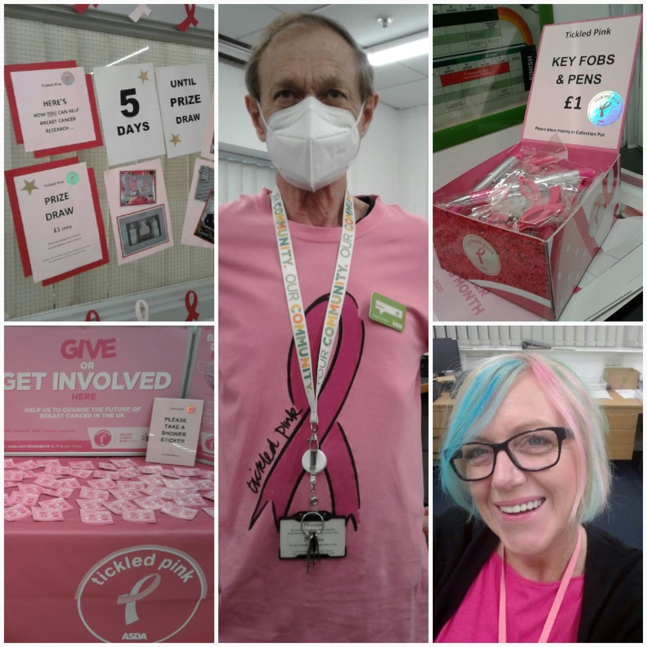 Tickled Pink fundraising | Asda Castlepoint