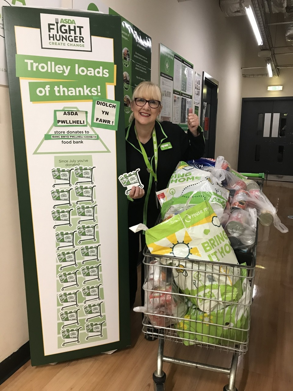 Fight Hunger Create Change thanks | Asda Pwllheli