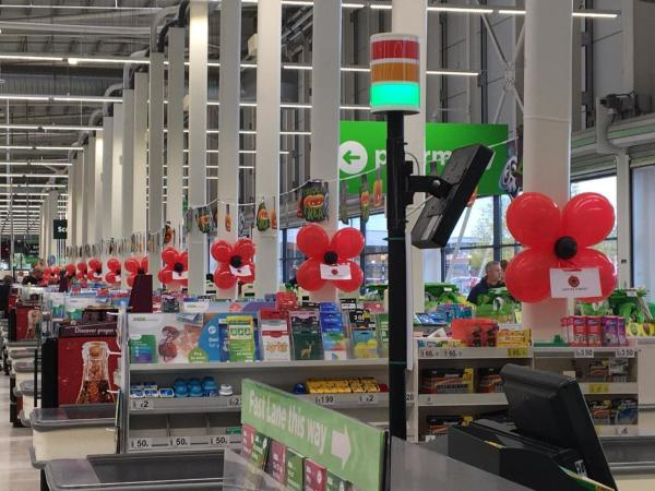 Swindon Haydon make balloon poppies to support appeal