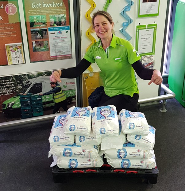 Amanda Wood from Asda Sutton has lost 11 stone in weight