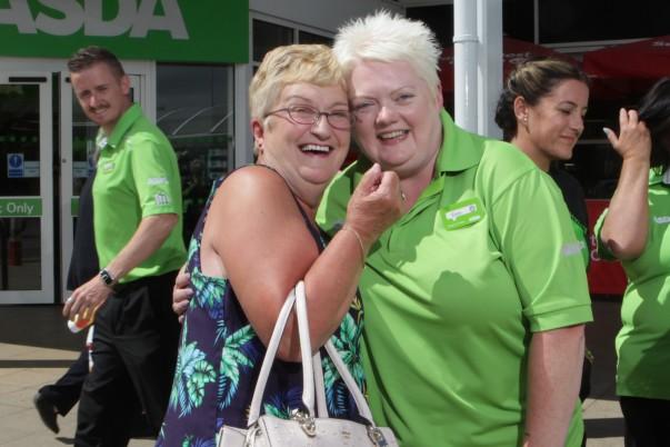 Asda community champions Sheila Palmer and Elaine Livingstone