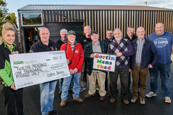 Asda Omagh donation to Gortin Men's Shed