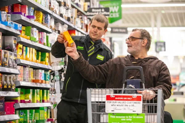 Customer John Cameron loves the friendly service he gets at Asda Wallington