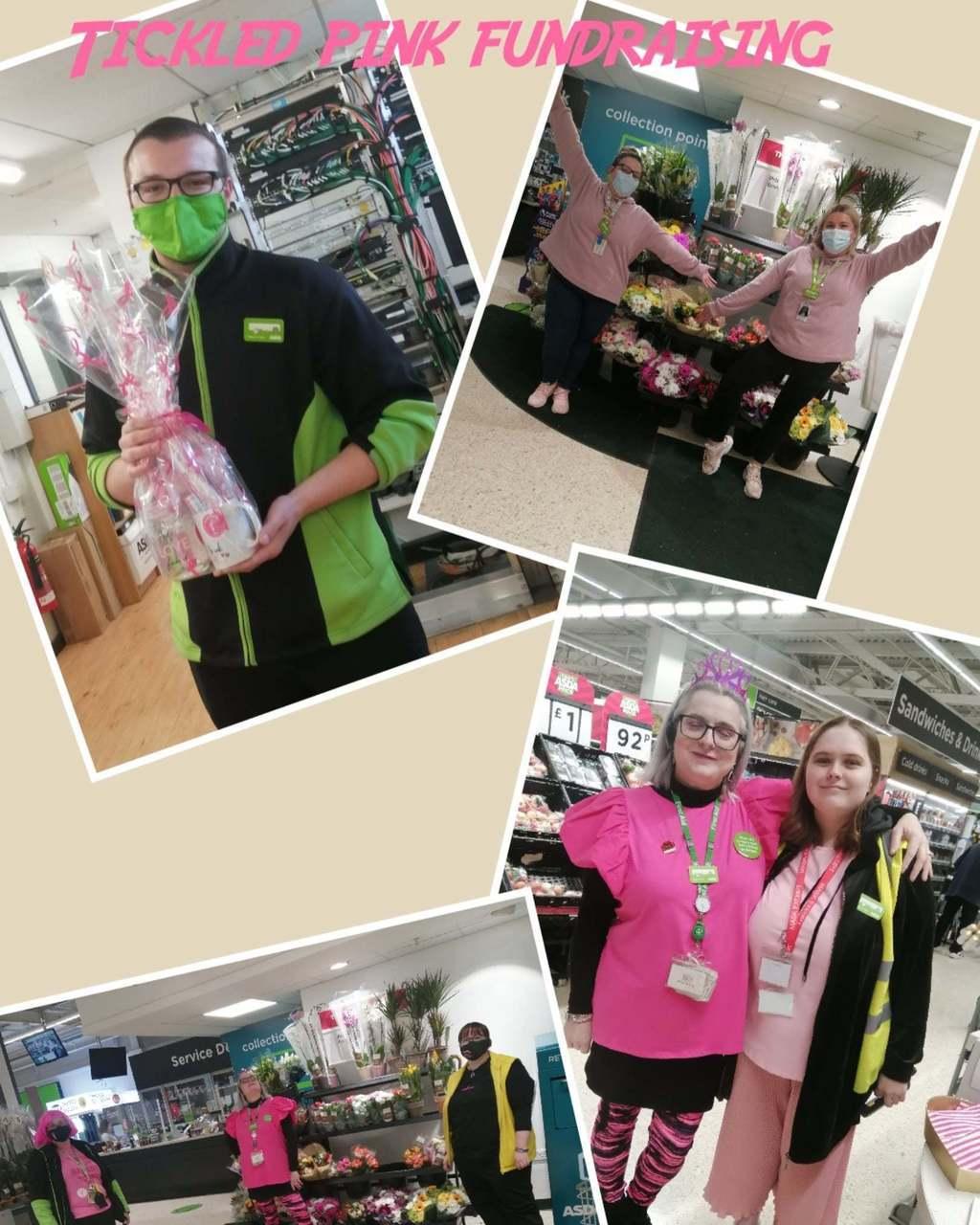 Tickled pink fundraising | Asda St Leonards