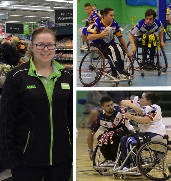 Jodie combines working for Asda with playing wheelchair rugby league
