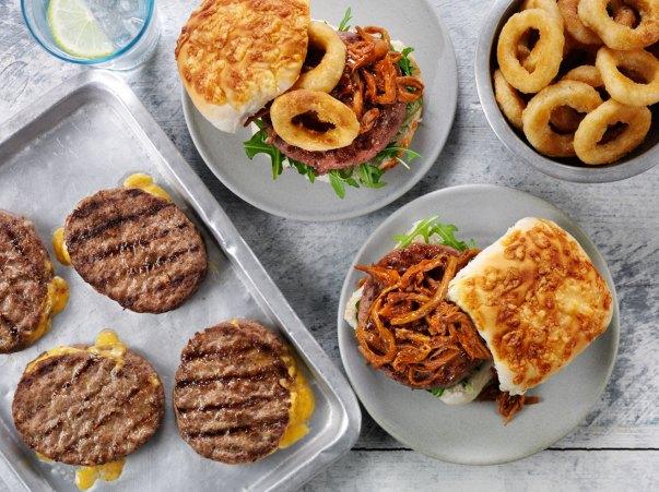 Frozen double cheeseburger