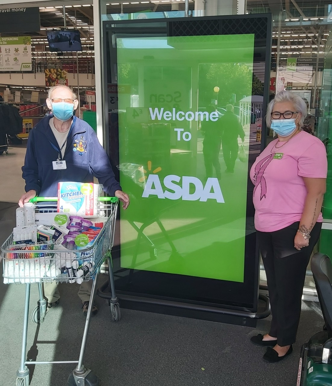 Donating to Boys' Brigade | Asda Donnington Wood