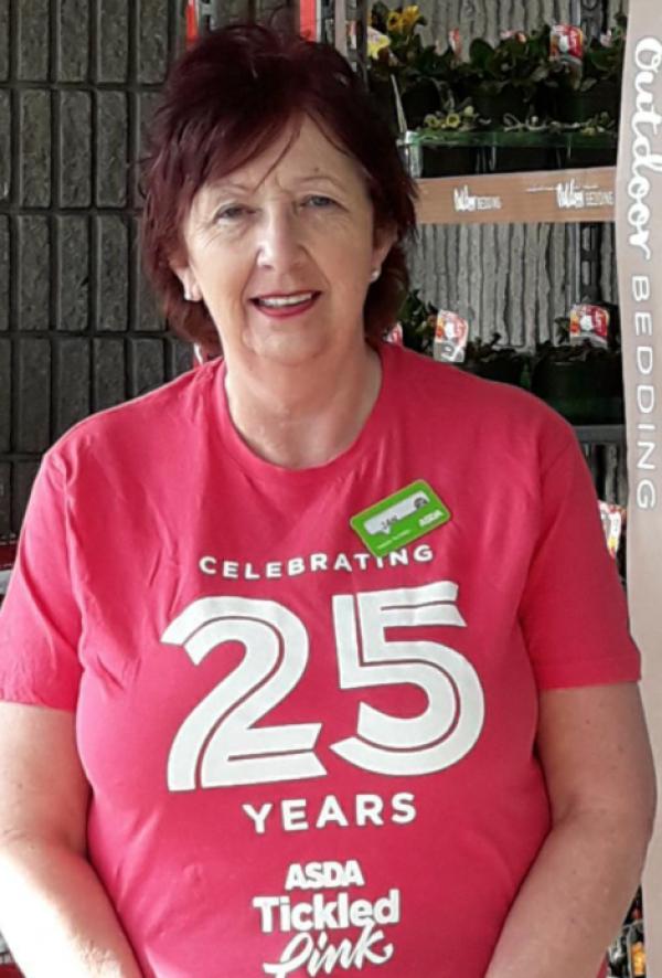 Jan Craig from Asda Middleton Park supports Tickled Pink
