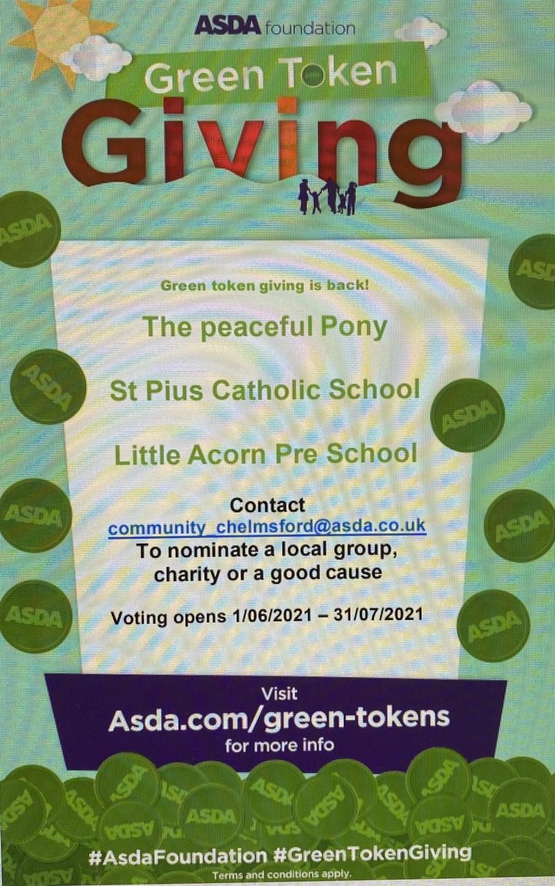 Green token giving is back!   Asda Chelmsford