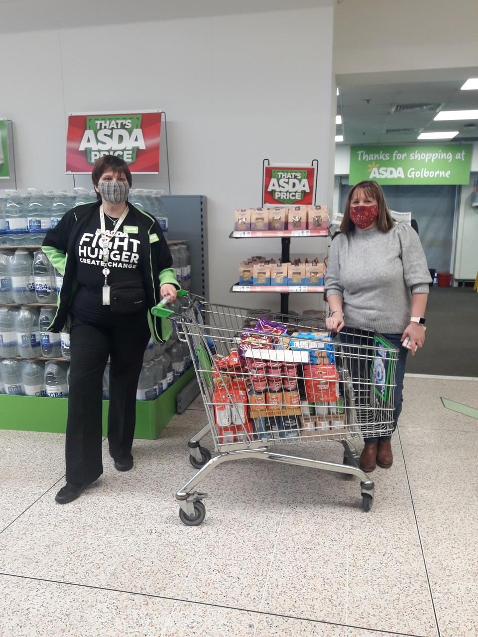 Donation to Golborne High Community Hub | Asda Golborne