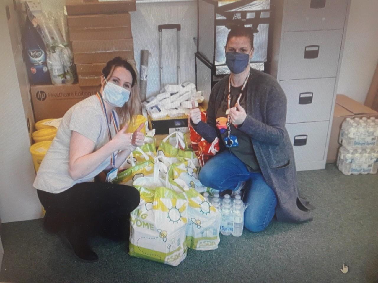 Donation to vaccination centre | Asda South Shields