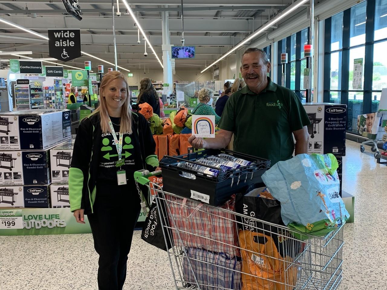 Clacton Foodbank thanks | Asda Clacton-on-Sea
