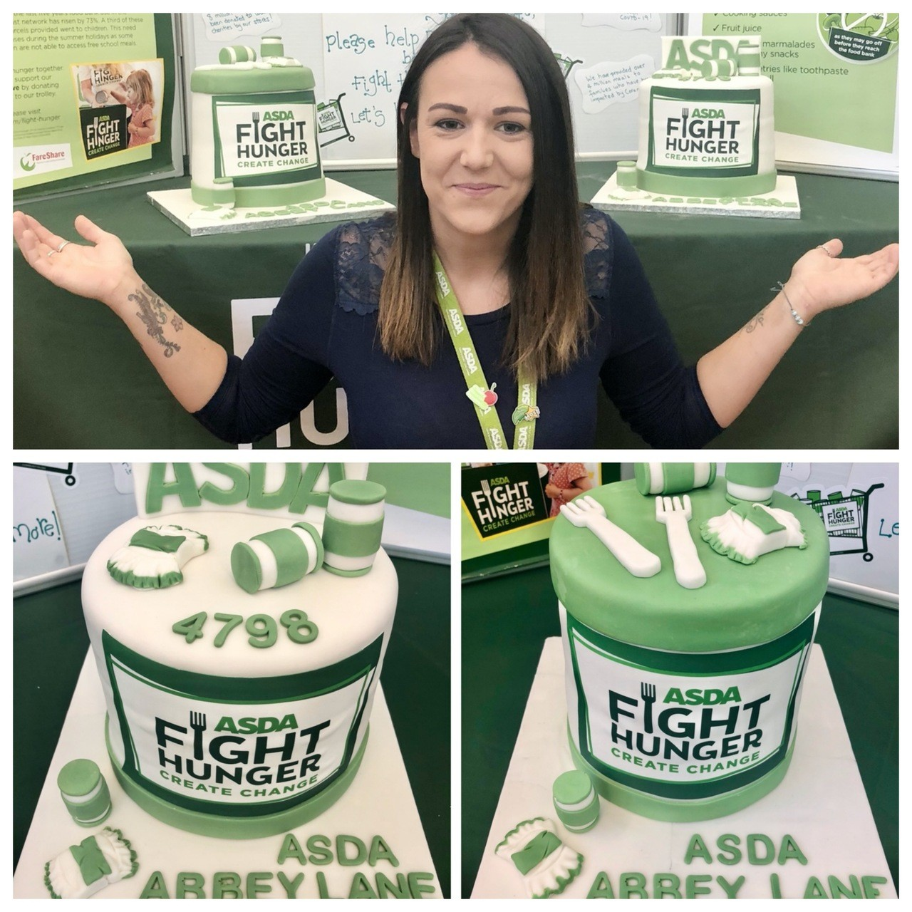 Karla's cake bake raises money for Action Homeless foodbank | Asda Leicester Abbey Lane