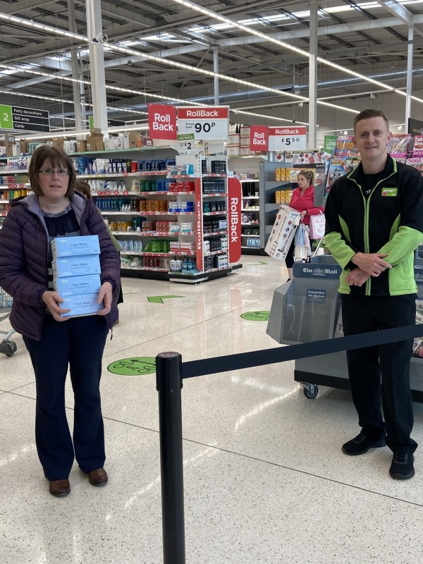 Asda Enniskillen face masks for care homes