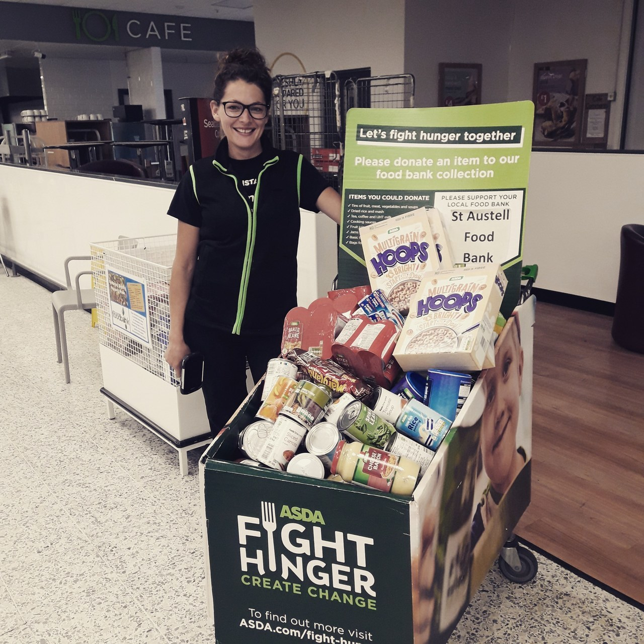 Food bank support | Asda St Austell