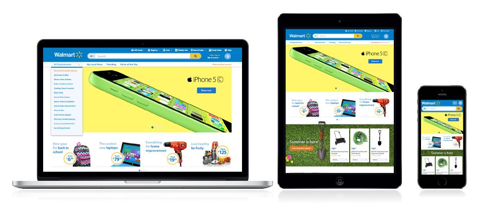 Website Redesign - Walmart_3 Screens
