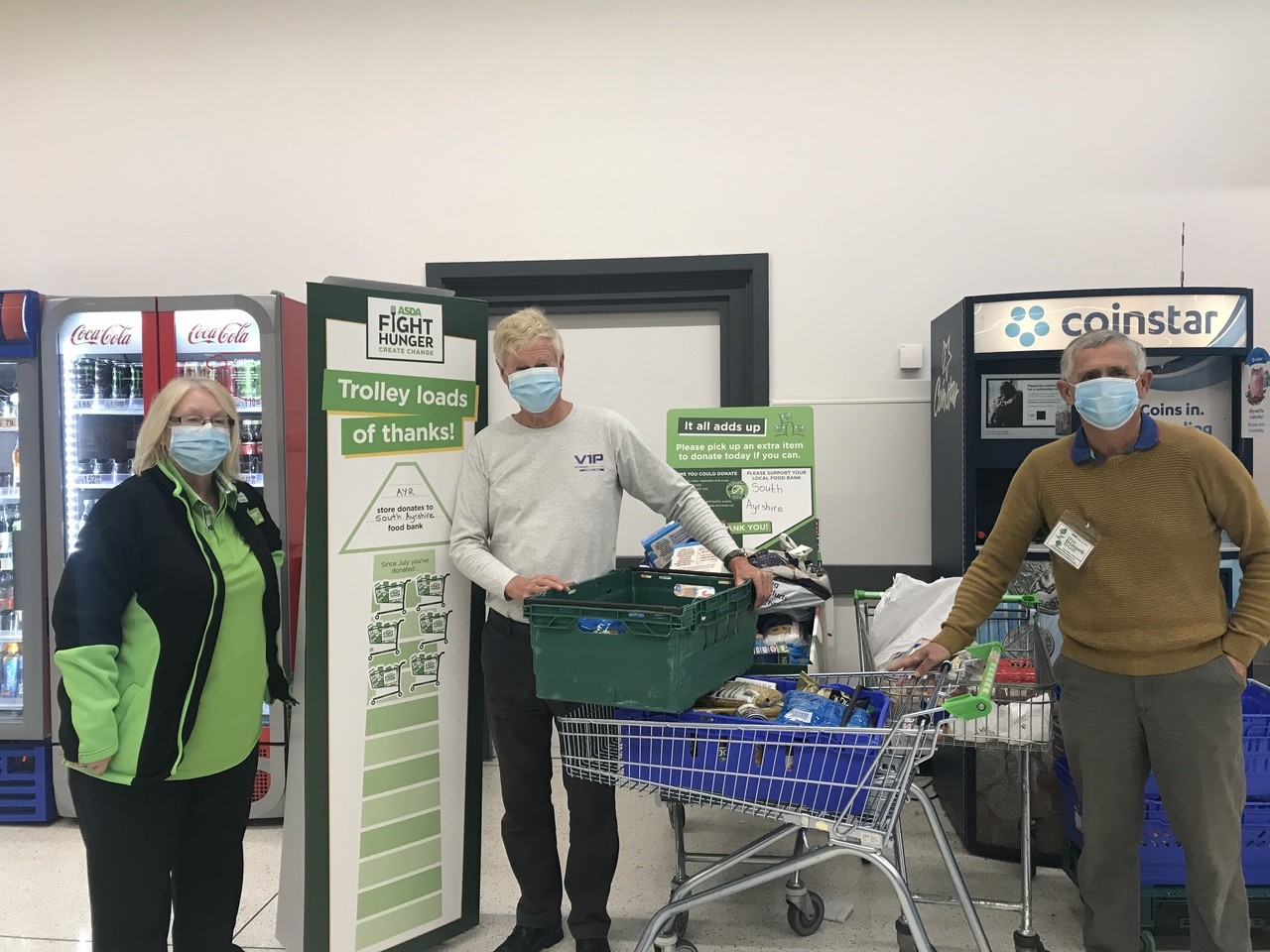 Fight Hunger donation to South Ayrshire Foodbank | Asda Ayr