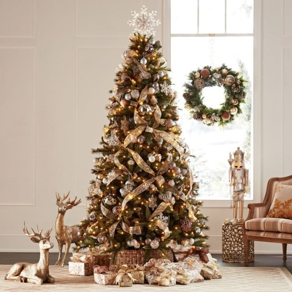 we would be remiss if we didnt highlight the members mark 32 pre lit decorated wreath in gold for this collection when shopping at sams club - Sams Christmas Decorations