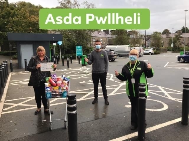 Donation of goods for the staff and residents at Dolwar Residential Care Home  | Asda Pwllheli