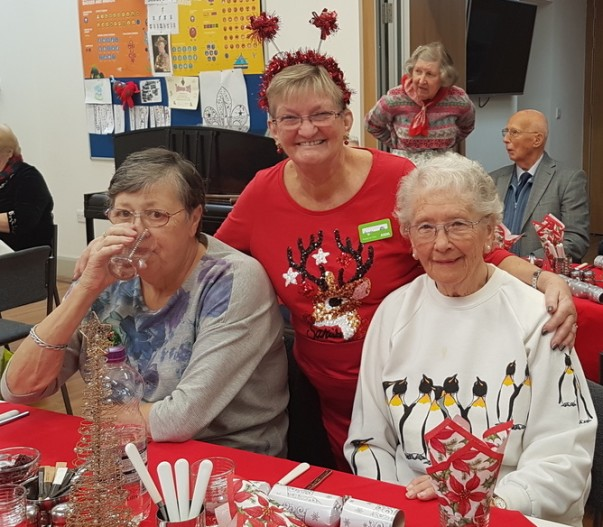 Asda Harrogate community champion Angela at a Christmas party