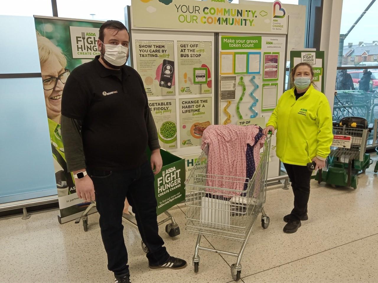 Nightwear donation to the Royal Gwent Hospital | Asda Newport Pillgwenlly