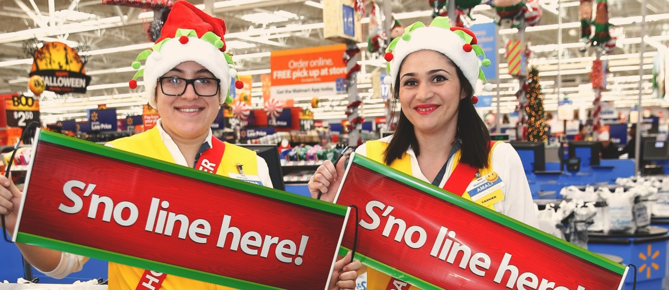 meet your holiday helpers for a fast friendly checkout