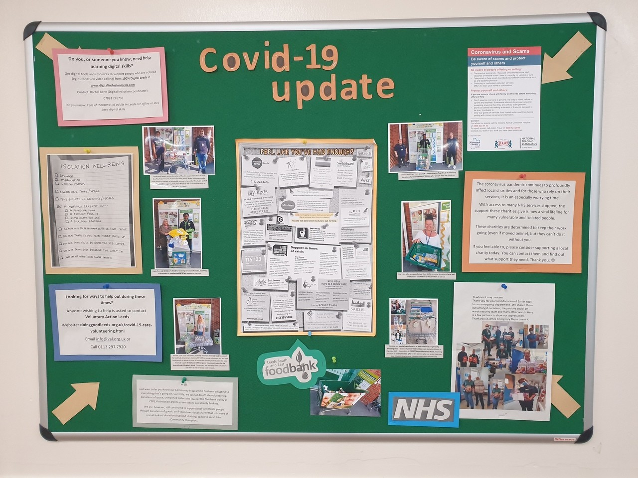 Covid-19 helpful information board | Asda Killingbeck