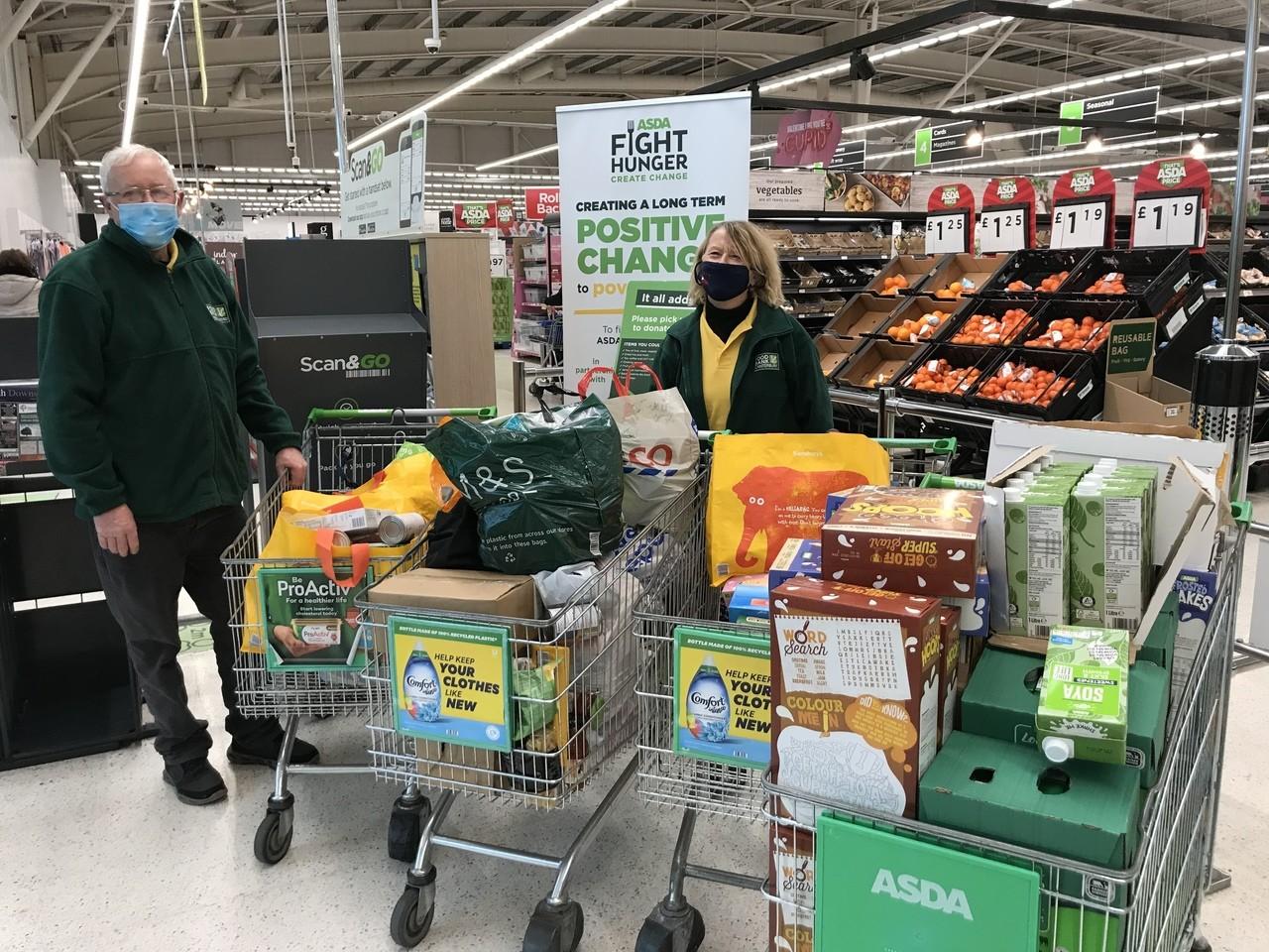 Customers donate to Canterbury Food Bank | Asda Canterbury