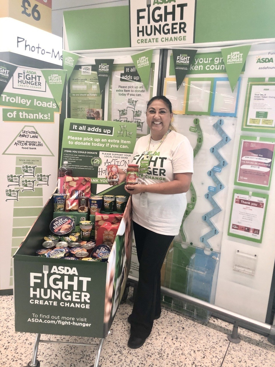 Supporting Fight Hunger!   Asda Leicester Abbey Lane