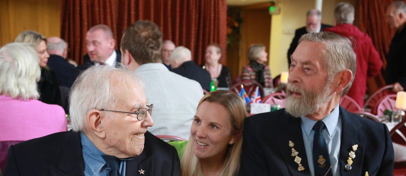 Asda Christmas party for members of Clacton-on-Sea Veterans' Breakfast Club